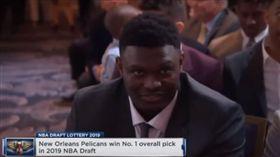 NBA/鵜鶘中狀元 怪物新人臉好囧 NBA,選秀,紐澳良鵜鶘,狀元,Zion Williamson 翻攝自YouTube ZPT Hoops