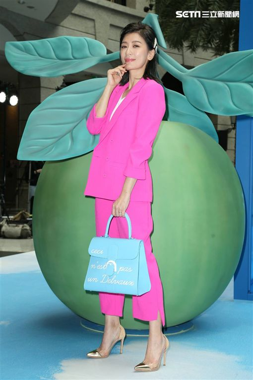 賈靜雯出席比利時精品包款活動。(圖/記者林士傑攝影)