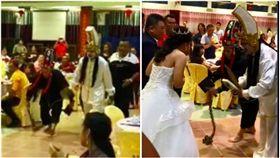 婚宴,黑白無常,中國,新山。翻攝自侯昭庆面子书