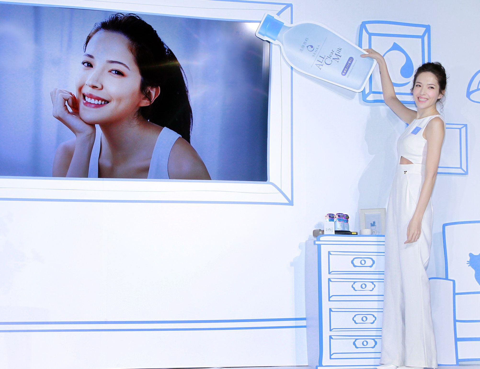 許瑋甯愛情幸福美滿分享卸妝迎向極淨正素顏。(記者邱榮吉/攝影)