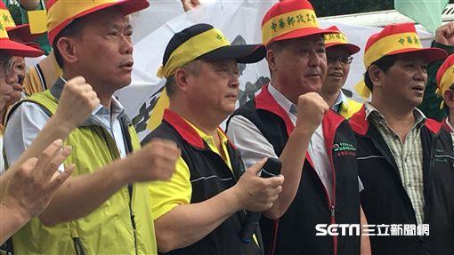 行政院,中華郵政工會,罷工,抗議,理事長,吳文豐/記者蕭筠攝影