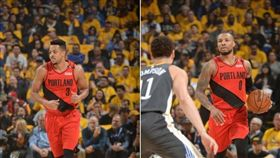 NBA/拓荒雙槍卡彈 勇士大逆轉! NBA,季後賽,波特蘭拓荒者,Damian Lillard,CJ McCollum 翻攝自NBA官方推特