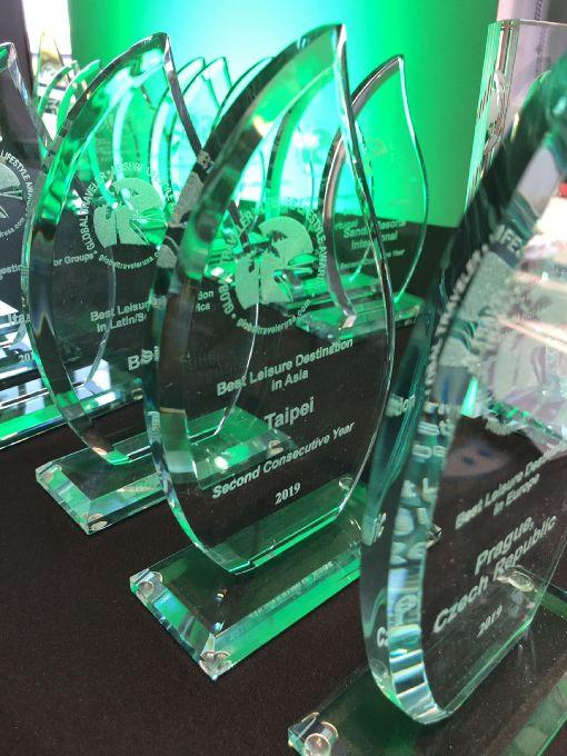 台北獲選亞洲最佳休閒旅遊目的地(2)美國商務旅遊雜誌「環旅世界」(Global Traveler)16日頒發年度「休閒生活風格獎」(Leisure Lifestyle Awards),台北市連續2年獲選「亞洲最佳休閒旅遊目的地」。(交通部觀光局提供)中央社記者林宏翰洛杉磯傳真  108年5月17日