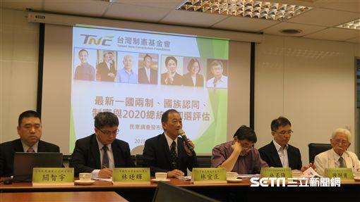 台灣制憲基金會17日公布「最新一國兩制、國族認同、制憲與2020總統仿初選評估」民調結果。(圖/記者盧素梅攝)
