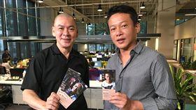 名導蔡明亮(左)與影帝李康生。(圖/記者蕭翰弦攝影)