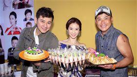 陳宇風(左起)、陳小菁、江宏恩三人佔《炮仔聲》重要關鍵角色。(圖/記者林士傑攝影)