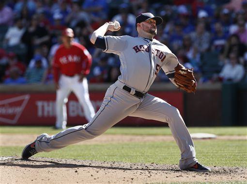 ▲休士頓太空人投手Ryan Pressly後援表現威猛。(圖/美聯社/達志影像)