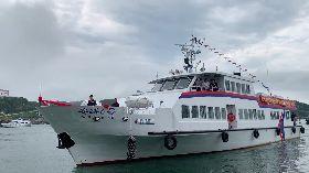 小三通琅岐航線首航  馬祖迎接客輪遊