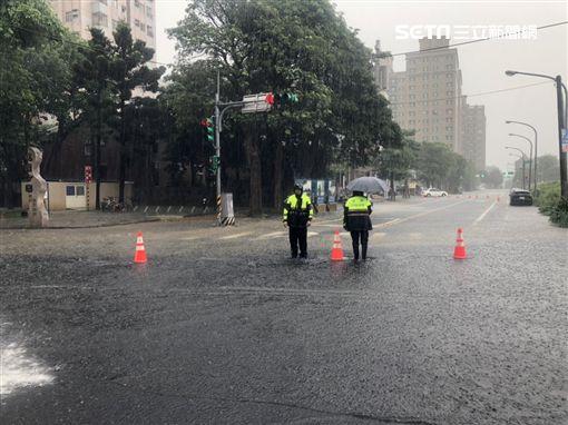 桃園,暴雨,淹水,警方,交通管制