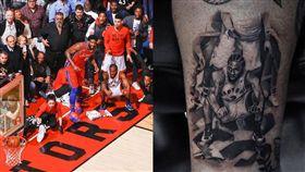 NBA/雷納德絕殺 竟被球迷紋上身 NBA,季後賽,多倫多暴龍,Kawhi Leonard,絕殺,費城七六人 翻攝自推特