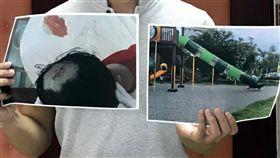 嘉市共融遊戲場隱藏危機 溜滑梯割傷幼童頭皮嘉義市文化公園共融遊戲場接連發生意外事件,16日又有幼童溜滑梯割傷頭皮,嘉義市議員鄭光宏(圖)17日表示,希望市府建設處全面檢視嘉義市各公園、綠地、社區、校園等地的兒童遊樂設施,必要時編列預算改善、更新,還給兒童安全環境。中央社記者黃國芳攝 108年5月17日