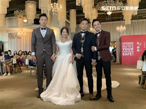 台北,同婚,婚禮,逼逼日記,祁家威,呂欣潔,法案。呂品逸攝