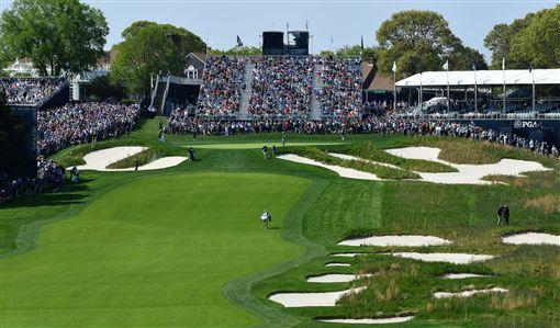 ▲黑球場長草區。(圖/翻攝自PGA錦標賽推特)