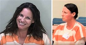 實在太可惡!美國佛羅里達州去年發生一起酒駕撞死人的車禍,肇事女子韋爾克(Angenette Welk)撞死一名60歲的婦人,她被捕入獄後,依照慣例拍下囚照,但沒想到酒駕撞死人的她,居然在拍照時對著鏡頭露齒燦笑,讓受害者家屬相當憤怒,認為韋爾克根本毫無悔意。(圖/翻攝自Villages-News.com YouTube)