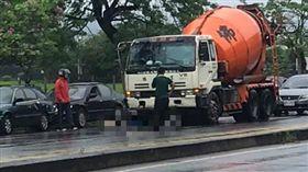 疑擦撞預拌混凝土車 台東男騎士遭拖行10公尺不治 圖翻攝自台東臉書災害通報臉書