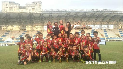 ▲TFA台北外師足球體育學院今年報名3隊都拿到冠軍。(圖/記者林辰彥攝影)
