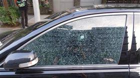 台北,內湖,車窗,玻璃珠彈(圖/翻攝畫面)