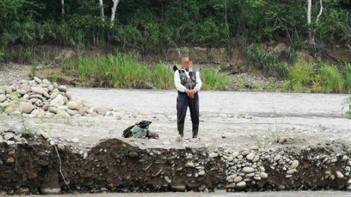 高雄,旗山,沙洲,溪水暴漲(圖/翻攝畫面)