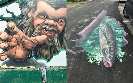 3D彩繪匠師曾先生畫作。(圖/翻攝自爆怨公社)