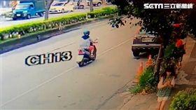 台中市沙鹿區茶館槍擊案監視器畫面曝光(翻攝畫面)