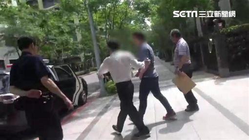 台北市內湖區黃姓男子持玩具槍掃射路旁車輛遭逮捕(翻攝畫面)