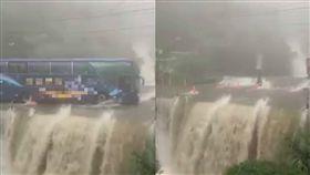投95線溪杉公路「山路變水路」/翻攝自臉書台灣新聞記者聯盟資訊平台