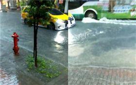 暴雨,大雨,淹水,新北,新莊(圖/翻攝自爆料公社)