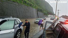 大雨,淹水,輪胎,新北,翻攝畫面