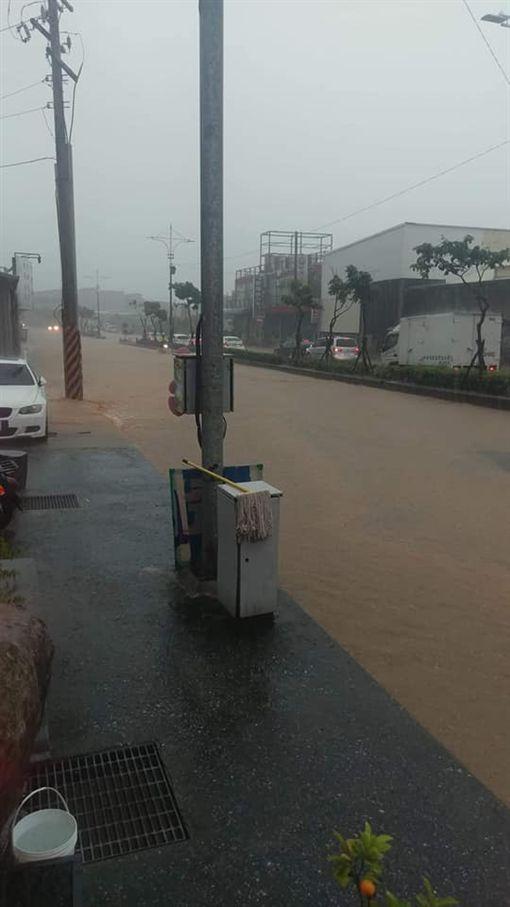 暴雨,八里,淹水,管制,災情
