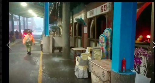 新竹,暴雨,殯儀館,下雨,漏雨,