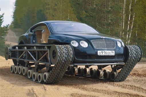 ▲Bentley Continental GT履帶車。(圖/翻攝網站)