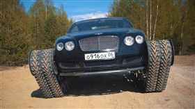 ▲Bentley Continental GT履帶車。(圖/翻攝網站)