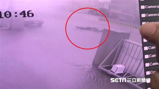 台中大甲雨打斷台電高壓電纜/翻攝畫面