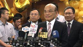 行政院長蘇貞昌20日出席2019台灣銀行行慶慶祝大會。(圖/記者盧素梅攝)