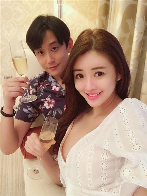 賴琳恩和老公陳乃榮。IG