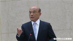 行政院長蘇貞昌21日上午在行政院與工商協進會舉行座談會。(圖/記者盧素梅攝)