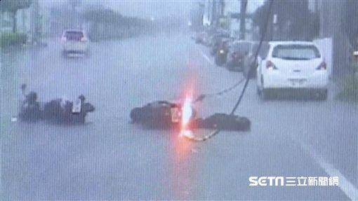 台中、苗栗騎士遭電死/記者蔡文淵、吳伊哲、SNG攝影
