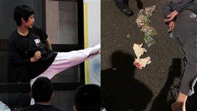 前亞運跆拳道女金牌國手夏顯詠勇逮竊賊/翻攝自夏顯詠臉書、翻攝畫面
