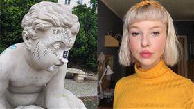 波蘭,女模,雕像(圖/翻攝自臉書,IG)