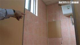 偷拍,管線間,女廁(記者/張浩譯)