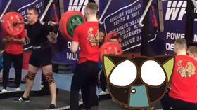 俄羅斯,骨折,舉重,小腿,職業生涯,運動,槓鈴,腳踝,運動,比賽,意外 圖/翻攝自YouTube