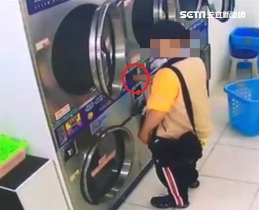 洗衣店,竊盜,通緝,新北,翻攝畫面