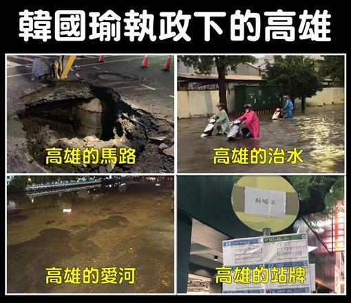 韓國瑜,市政,高雄,淹水,愛河,總統