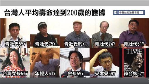 民進黨有6位青壯派代表呼籲蔡英文放棄連任。不過有網友質疑,這群青壯派的平均年齡是64.8歲,憑什麼代表青壯年。對此,視網膜表示,在台灣57歲自稱是「女孩」、61歲被叫「年輕人」,因此視網膜自嘲25歲的他,就是顆「受精卵」。(圖/眼球中央電視台臉書)
