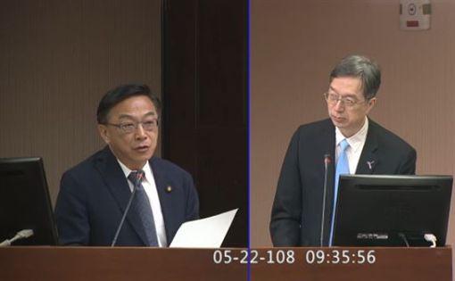 陳宜民,衛福部心理及口腔健康司長諶立中,立法院議事轉播系統