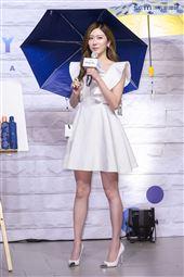 張景嵐出席凍齡傘新品發布會。(記者林士傑/攝影)