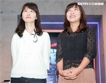 兩代鄉民女神高嘉瑜、黃捷同台參與辯論節目。(記者林士傑/攝影)