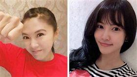 劉樂妍與妹妹(合成圖/翻攝自微博、臉書)