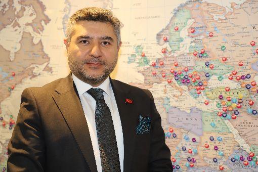 土耳其宗教基金會執行長土耳其對外援助規模最大機構土耳其宗教基金會執行長波拉特(圖)指出,2019年齋月計劃慈善經費總額逾新台幣一億元,並為逾20萬名穆斯林提供開齋飯。中央社記者何宏儒安卡拉攝  108年5月23日