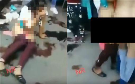 墨西哥,私刑正義,偷竊,裸體(圖/翻攝自YouTube)